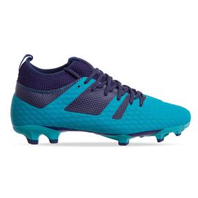 Бутсы футбольная обувь с носком 181239-3 CYAN/NAVY размер 40-45 синий-темно-синий