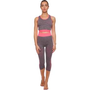 Комплект спортивный для фитнеса и йоги (топ и леггинсы) SIBOTE ST-2098 44-48 цвета в ассортименте