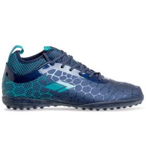 Сороконожки обувь футбольная 181217-2 NAVY/CYAN размер 40-45 темно-синий-синий