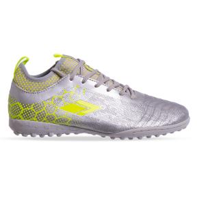 Сороконожки обувь футбольная 181217-3 SILVER/LIME размер 40-45 серебро-лимонный