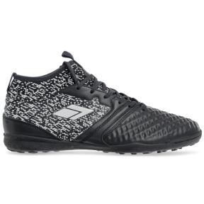 Сороконожки обувь футбольная с носком 170819-1 BLACK/WHITE размер 40-45 черный-белый