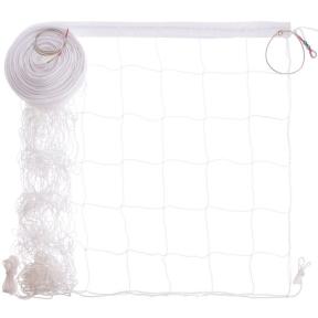Сетка для волейбола Премиум15 SO-0943 (PP 2,5мм, р-р 9x0,9м, ячейка 15x15см, с метал. тросом)