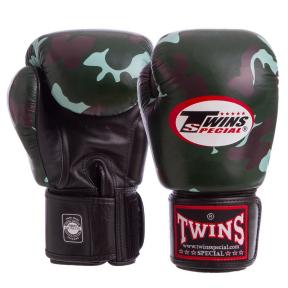 Перчатки боксерские кожаные TWINS FBGVL3-ARGN 10-18 унций зеленый