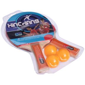 Набор для настольного тенниса 2 ракетки, 3 мяча MT-218 (древесина, резина, пластик)