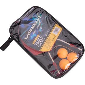 Набор для настольного тенниса 2 ракетки, 3 мяча с чехлом WEINIXUN MT-2103 (древесина, резина, пластик)