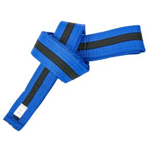 Пояс для кимоно двухцветный SP-Planeta синий-черный-синий BO-7266 (хлопок, размер 00-5, длина 220-280см)