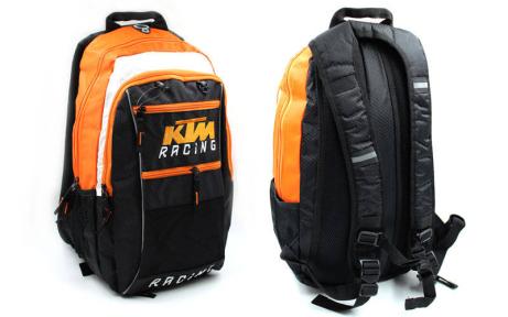Моторюкзак с местом под питьевую систему KTM MS-5021 черный-оранжевый