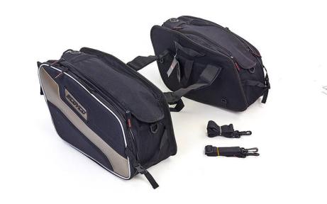 Мотосумка (2 кофра текстильных) SCOYCO MB15-2 (PL, р-р 30х41х25см, черный-серый)