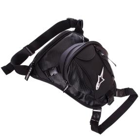 Мотосумка набедренная Alpinestars M-4550 (PVC, р-р 31х27х9+8см, черный)