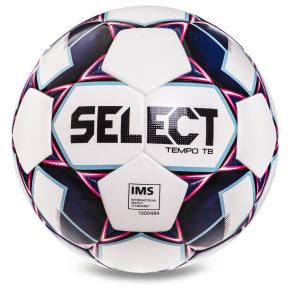 Мяч футбольный №5 SELECT TEMPO TB IMS (FPUS-T 1600 , белый-фиолетовый)