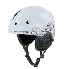 Шлем горнолыжный с механизмом регулировки MOON MS-2948 (ABS, p-p M-55-58, S-53-55, белый-розовый)
