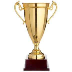 Кубок спортивный с ручками 1465B (металл, пластик, h-44см, b-28см, d чаши-18,5см, золото)