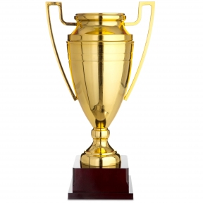 Кубок спортивный с ручками 1430C (металл, пластик, h-45см, b-25см, d чаши-15,5см, золото)