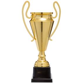 Кубок спортивный с ручками 1601A (металл, пластик, h-49,5см, b-25,5см, d чаши-16см, золото)