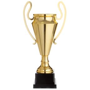 Кубок спортивный с ручками 1601B (металл, пластик, h-43,5см, b-22см, d чаши-13см, золото)