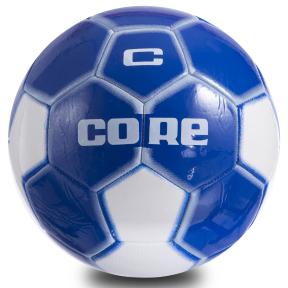 Мяч футбольный №5 PVC Сшит машинным способом CORE ATROX CRM-053 (№5, 5сл., белый-синий)
