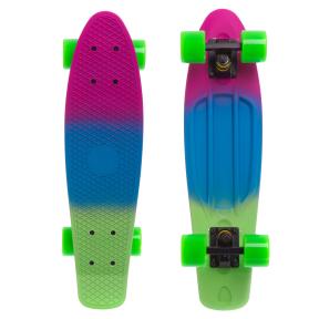 Скейтборд пластиковый Penny RUBBER SOFT FISH 22in полосатая дека SK-412-1 (MH02)