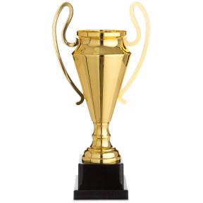Кубок спортивный с ручками 1601C (металл, пластик, h-38см, b-19см, d чаши-11см, золото)