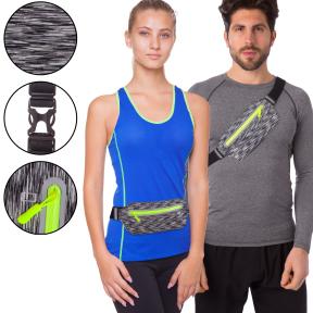 Ремень-сумка спортивная (поясная) для бега и велопрогулки C-0329  (PVC, цвета в ассортименте)