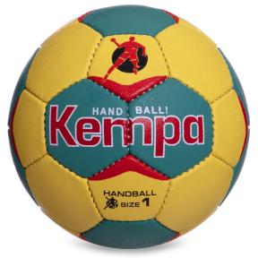 Мяч для гандбола KEMPA HB-5407-1 (PU, р-р 1, сшит вручную, синий-темно-синий)