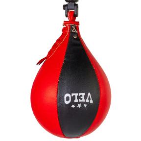 Груша боксерская пневматическая VELO ULI-8002 28x17см черный-красный