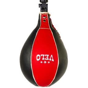 Груша боксерская пневматическая VELO ULI-8004 28x17см черный-красный