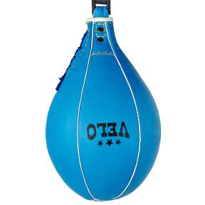 Груша пневматическая Каплевидная подвесная VELO ULI-8005 (верх-кожа, латекс. камера, d-20см, l-30см, синий)