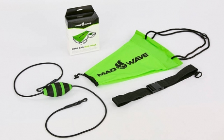 Парашют сопротивления для плавания с функцией автоматического раскрытия MadWave DRAG BAG M077605