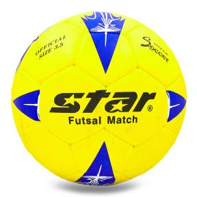 Мяч для футзала №4 Outdoor покрытие вспененная резина STAR JMC0135 желтый-синий