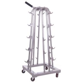 Подставка (стойка) четырехсторонняя для гантелей Zelart SC-8032A (металл, р-р 50х50х113см)
