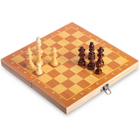 Шахматы настольная игра деревянные на магнитах W6702 (р-р доски 29см x 29см)