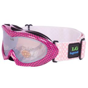 Очки горнолыжные детские LEGEND LG7023 (акрил,пластик,PL,двойные линзы,антифог,цвет линз-оранж,опр.чер-роз)