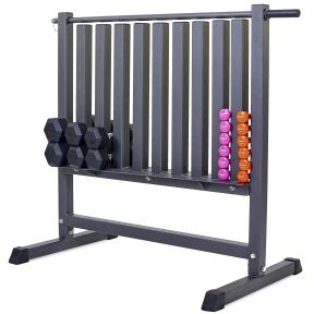 Подставка под гантели для фитнеса на 80шт Zelart RK2506L (металл, р-р 107х68х105см)