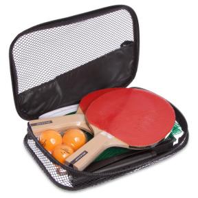 Набор для настольного тенниса 2 ракетки, 3 мяча, сетка с креплением с чехлом DUNLOP 679212 RAGE