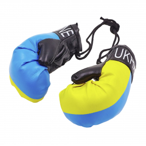 Сувенир (подвеска) Перчатки боксерские Украина в машину FB-5028 (PU, l-10,5см, 1уп-6пар,цена за 2шт)