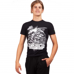 Футболка спортивная мужская ALPINESTARS ROCKSTAR CO-4479 размер S-XL-42-54 черный