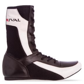 Боксерки кожаные RIV MA-3310 размер 36-45 черный-белый