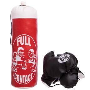 Боксерский набор детский (перчатки+мешок) SP-Planeta BO-4675-S (PVC, размер S, мешок h-39см, d-14см, цвета в ассортименте)