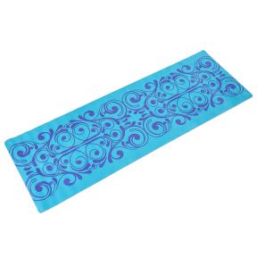 Коврик для йоги Замшевый каучуковый двухслойный 3мм Record FI-5662-41 (размер 1,83мx0,61мx3мм, синий)