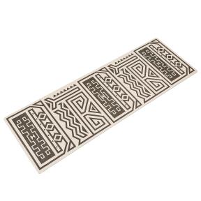 Коврик для йоги Замшевый каучуковый двухслойный 3мм Record FI-5662-43 (размер 1,83мx0,61мx3мм, серый-черный)