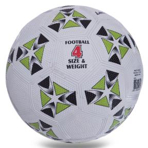 Мяч резиновый Футбольный LANHUA S013 №4 белый-зеленый
