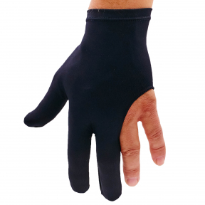 Перчатка бильярдная (1шт) KS-0011 (нейлон, эластан, черный, в уп.-2шт, цена за 1шт)