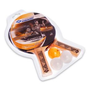 Набор для настольного тенниса 2 ракетки, 3 мяча DONIC LEVEL 150 MT-788497 CHAMPS LINE (древесина, резина)