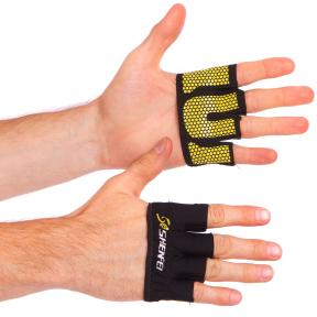 Накладки атлетические (грипад) для поднятия веса WorkOut FI-8038 размер S-XL цвета в ассортименте