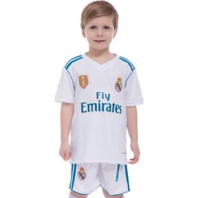 Форма футбольная детская REAL RONALDO 7 домашняя 2018 SP-Planeta CO-7130 (р-р 20-28-6-14лет, 110-155см, белый)