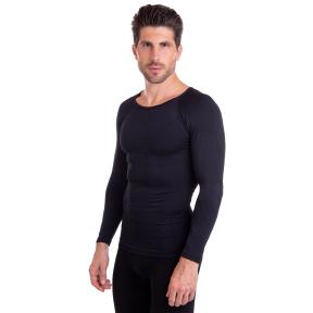 Компрессионная футболка с длинным рукавом ST-2043 размер S-3XL рост 170-185см черный