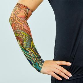 Нарукавники тату (1шт) нарукавники с татуировкой MS-0286-1 (полиэстер, цвета в ассортименте)