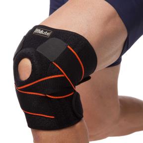 Наколенник (фиксатор коленного сустава) открывающийся с открытой колен.чашечкой (1шт) MUTE 9014 (полиамид, спандекс, р-р регулируемый, черный)