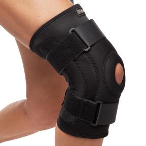 Наколенник (фиксатор коленного сустава) открывающийся с открытой колен.чашечкой (1шт) MUTE 9046 (полиамид, спандекс, р-р регулируемый, черный)