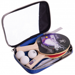 Набор для настольного тенниса 2 ракетки, 3 мяча, сетка с крепл.,чехлом GIANT DRAGON METEOR P40+1* MT-6507